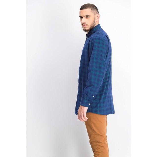 Tommy Hilfiger Men's Classic-Fit Check Dress Shirt Blue Size 15.5X32-33