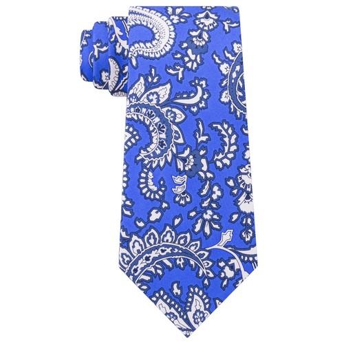 Tommy Hilfiger Men's Central Paisley Silk Tie Navy Size Regular