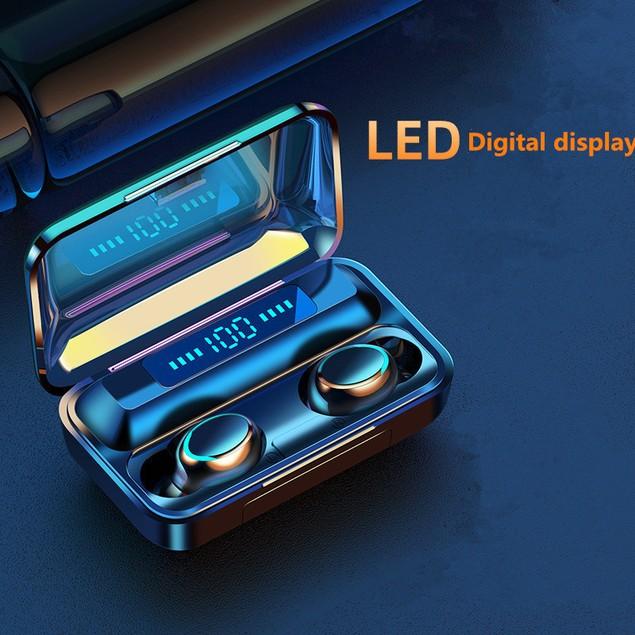 Bluetooth Headset Binaural English Tws Battery Display Touch 5.0