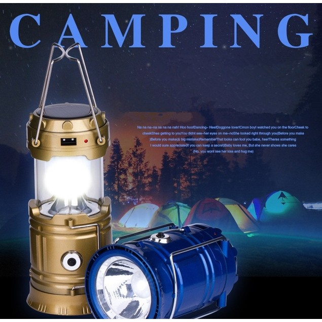 Multifunctional Lantern LED Solar USB Rechargeable Camping Light Camping Supplies Tent Light