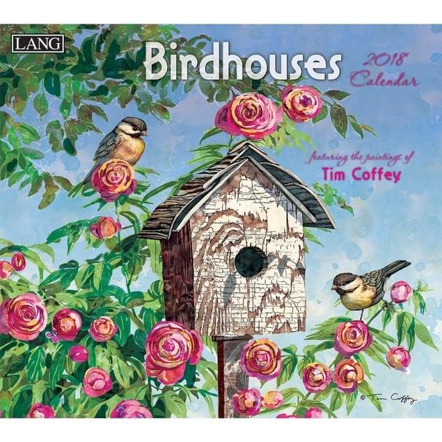 Birdhouses Wall Calendar, LANG Wall Calendar by Calendars