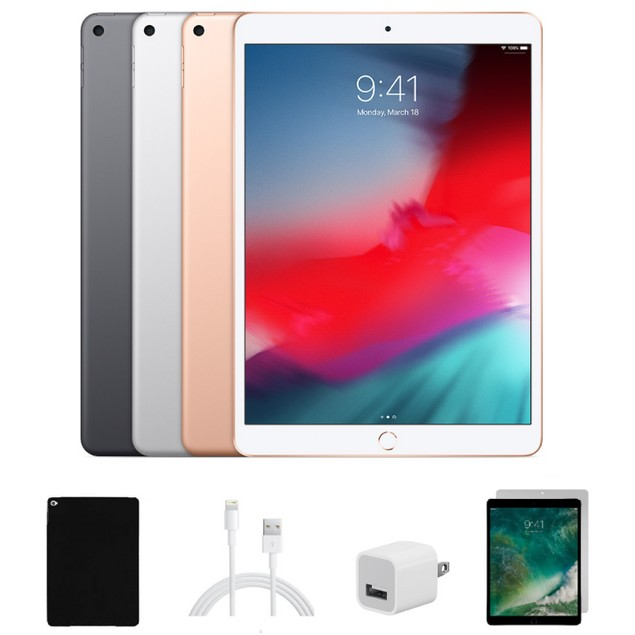 Apple iPad Air 2 Bundle 16GB WiFi (Case, Charger, and Glass)