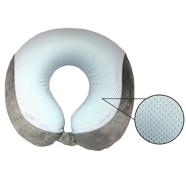 Cool Gel Infused Memory Foam Travel Neck Pillow
