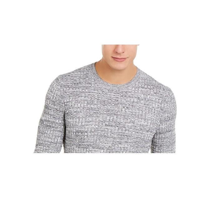 Tasso Elba Men's Basket Weave Crewneck SweaterDark Gray Size X-Large