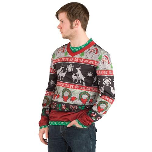 Frisky Deer Ugly Christmas Sweater Reindeer Tacky XMAS Holiday Sweatshirt