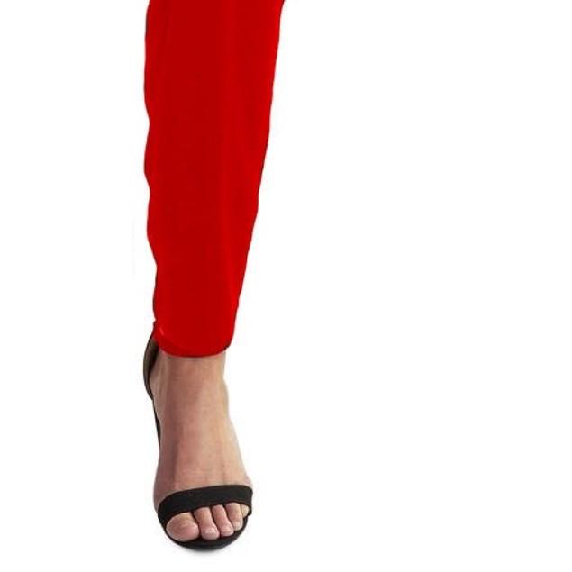 Lauren Ralph Lauren Womens Peria Velvet One Shoulder Jumpsuit Red Size 18
