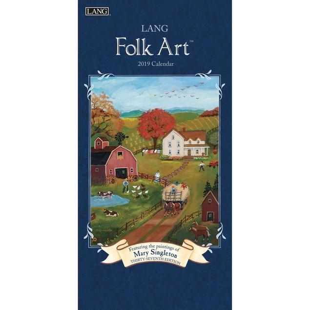Lang Folk Art Vertical Wall Calendar, Vertical Wall Calendars by Calendars