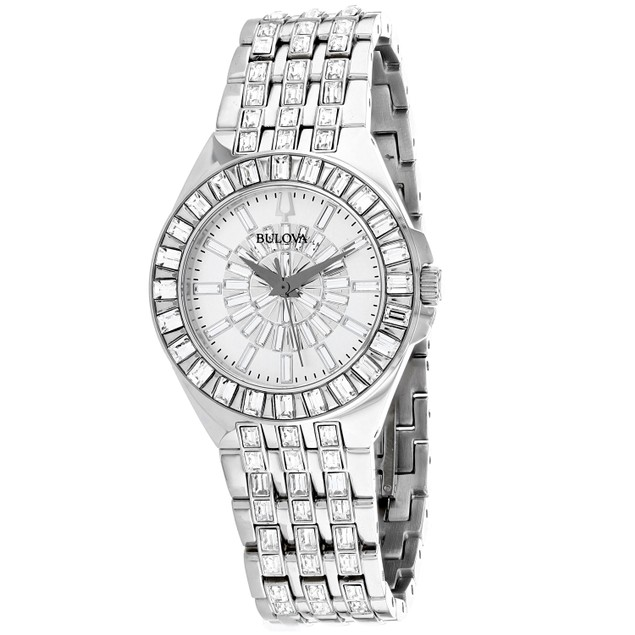 Bulova Women's Phantom Silver Dial Watch - 96L278