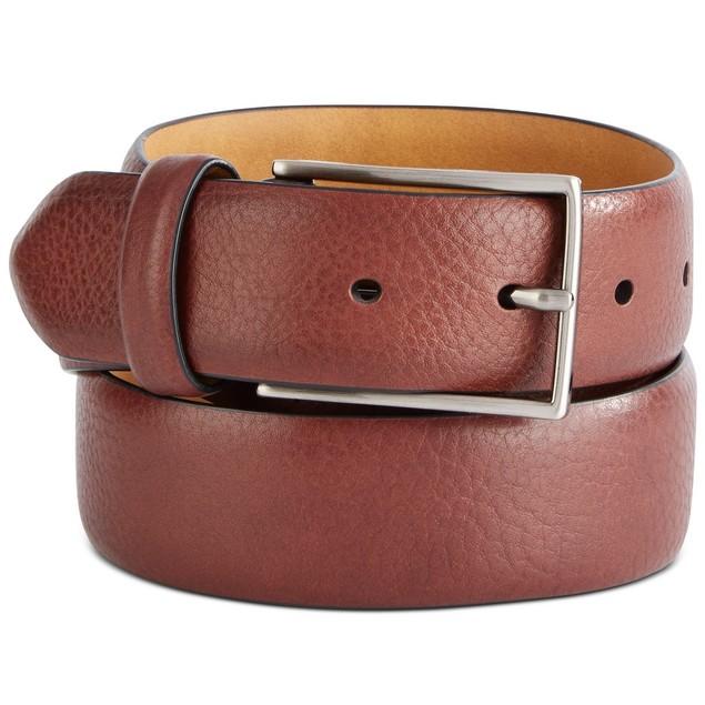 Tasso Elba Men's Textured Belt  Honey Size Small