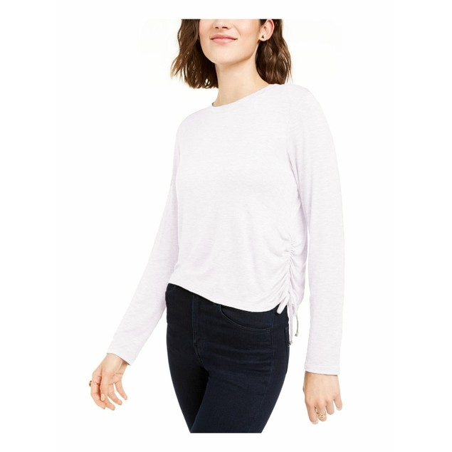 Rebellious One Women's Juniors' Side-Ruched Top White Size X-Large
