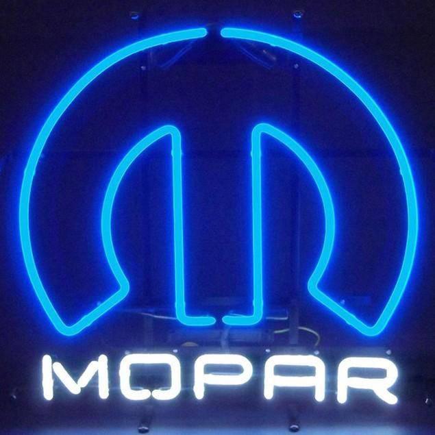 Neonetics Open Blue Border Neon Sign
