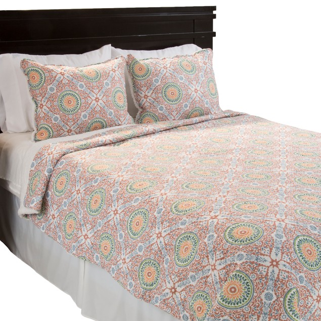 Lavish Home Emilia Reversible 3 Piece Quilt Set with Sherpa - F/Q