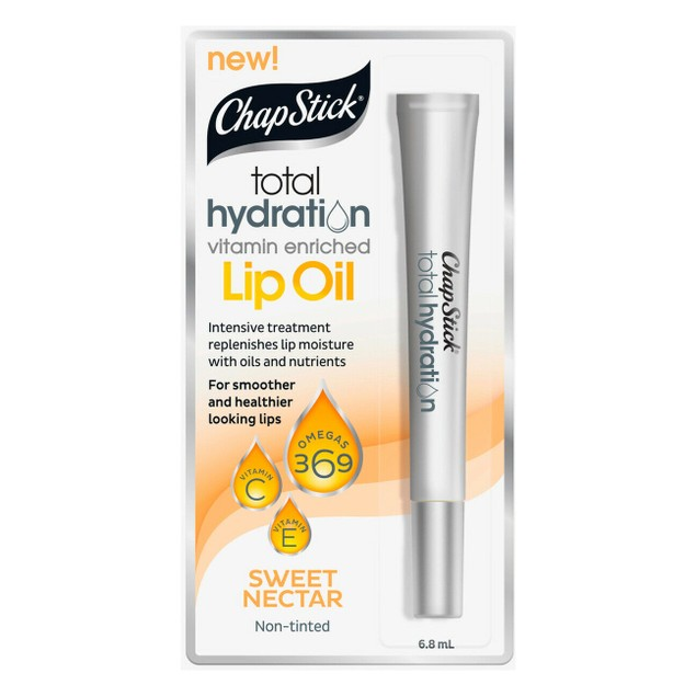 ChapStick Total Hydration Vitamin Enriched Lip Oil Sweet Nectar (4-Pack)