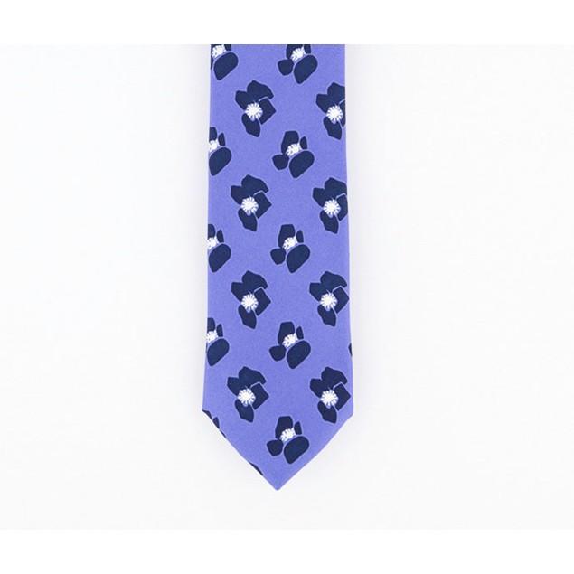 Tommy Hilfiger Men's Bold Floral Silk Printed Neck Tie Blue Size Regular