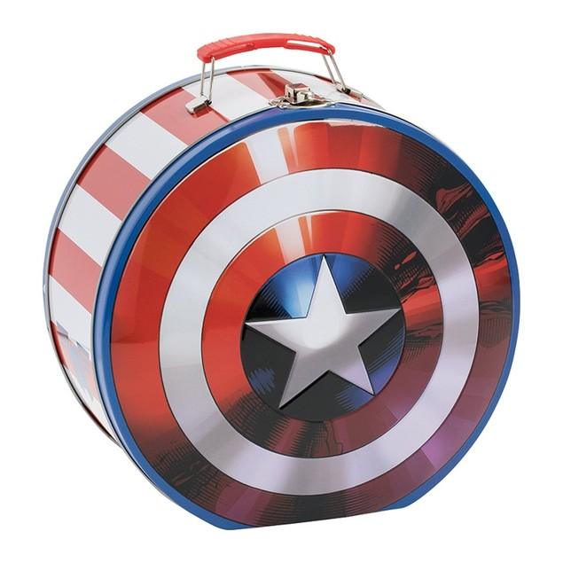 Marvel Captain America Shield Shaped Tin Tote