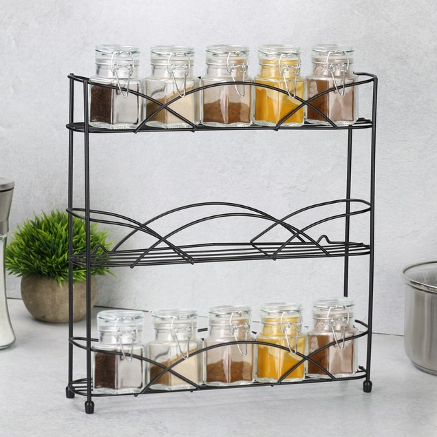 3 Tier Herb and Spice Rack | MandW Black