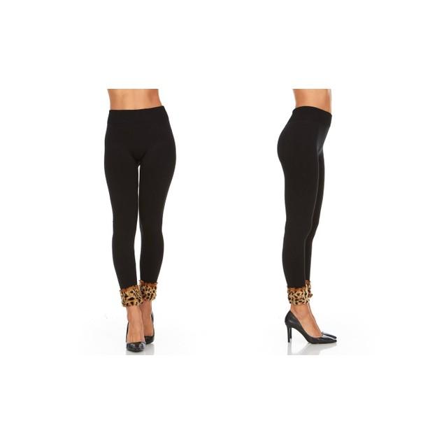 2-Pack Women's Cuffed Fleece Leggings