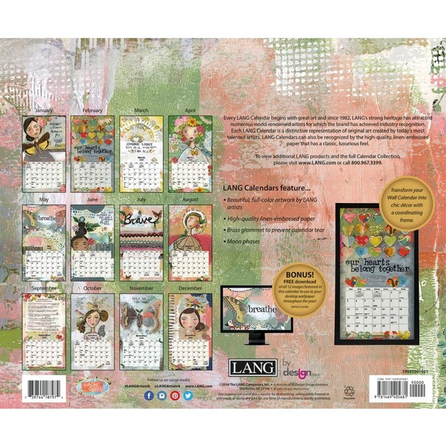 Kelly Rae Roberts Wall Calendar, Lang Folk Art by Calendars