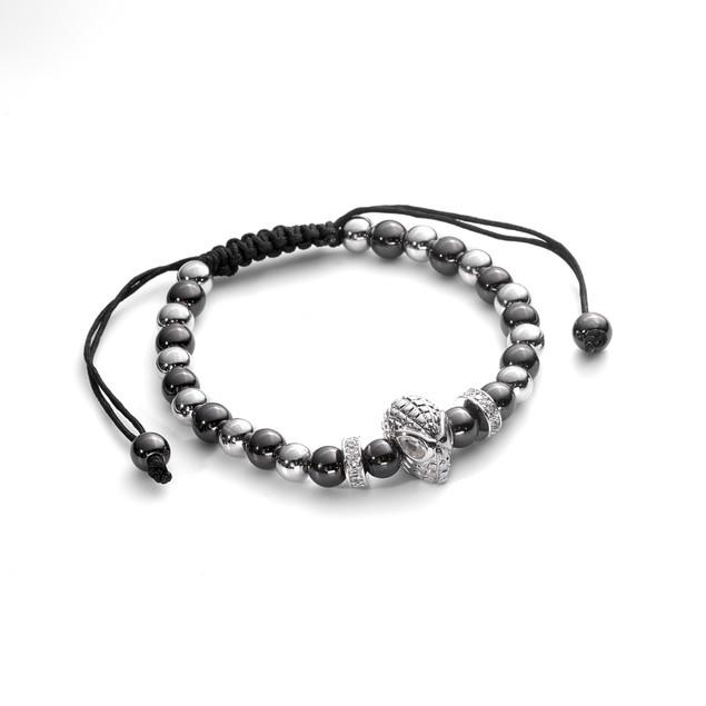Men's Fashion Macrame Bracelet Spiderman Head