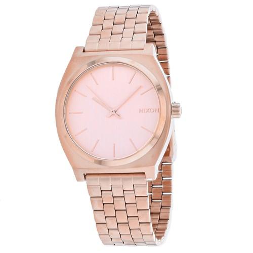 Nixon Men's Time Teller Rose gold Dial Watch - A045-897