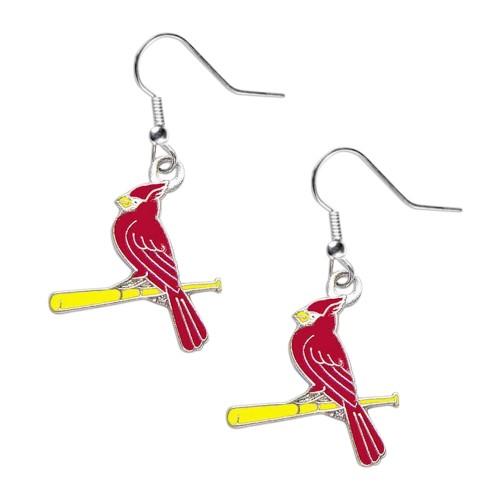 "St Louis Cardinals ""Bird on Bat"" Dangle Logo Earring Charm Set MLB"