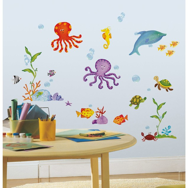 Roommates Baby Room Wall Decorative Adventures Under the Sea Wall Decals