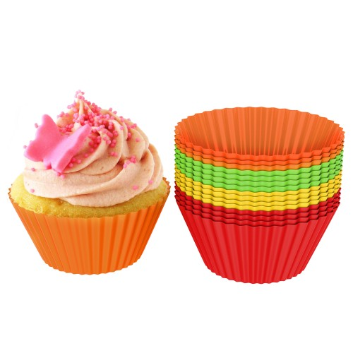 24-Pack Silicone Cupcake Liners/Baking Cups by Chef Buddy