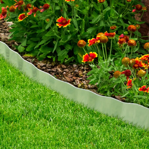 Galvanized Steel Lawn Edging Landscape 6.25 inches x 16 feet