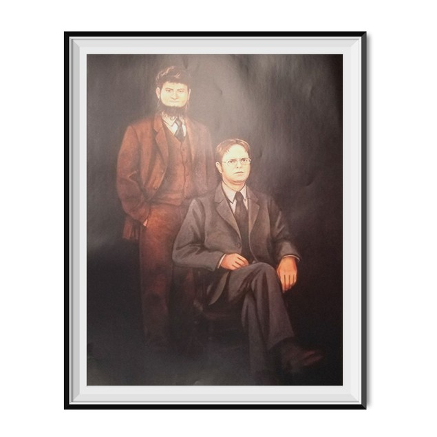 Mose And Dwight Schrute Portrait Painting Poster 11 x 17
