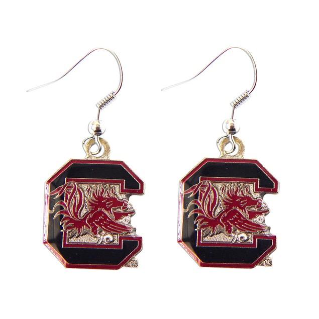 South Carolina Gamecocks Dangle Logo Earring Set Charm Gift - NCAA