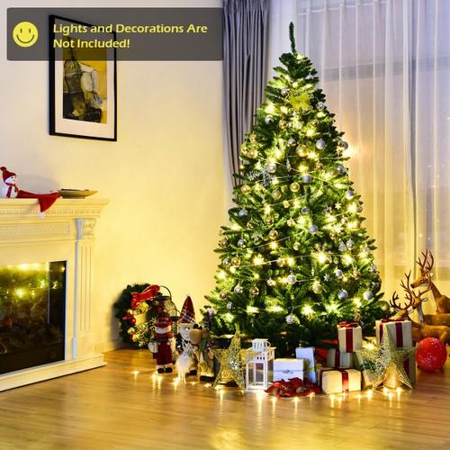 Costway 7.5ft Hinged Christmas Tree Douglas Full Fir Tree 2254 Tips
