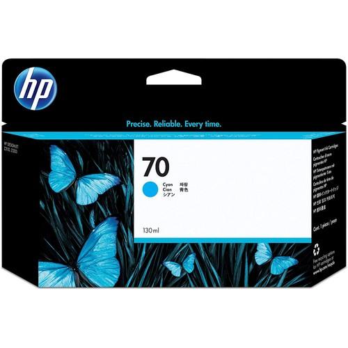 HP 70 Cyan 130-ml Genuine Ink Cartridge (C9452A) for DesignJet Z5400, Z5200 & Z2100 Large Format Printers