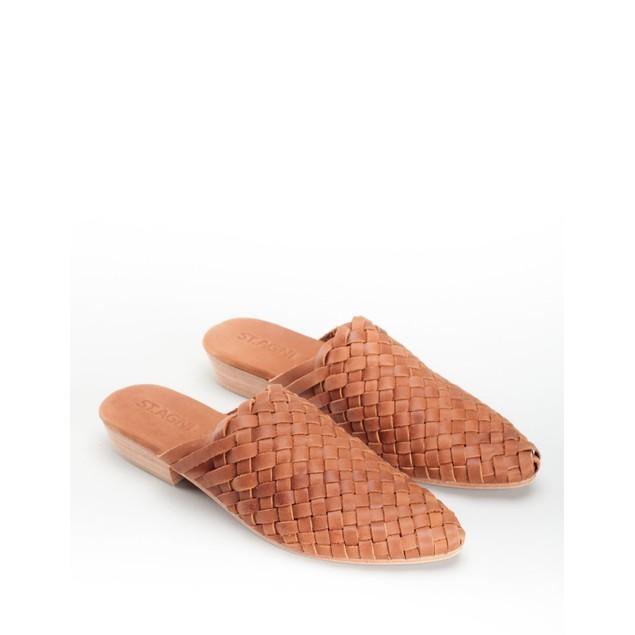 St. AGNI Women's Paris Woven Mules - Vintage Tan Size 37