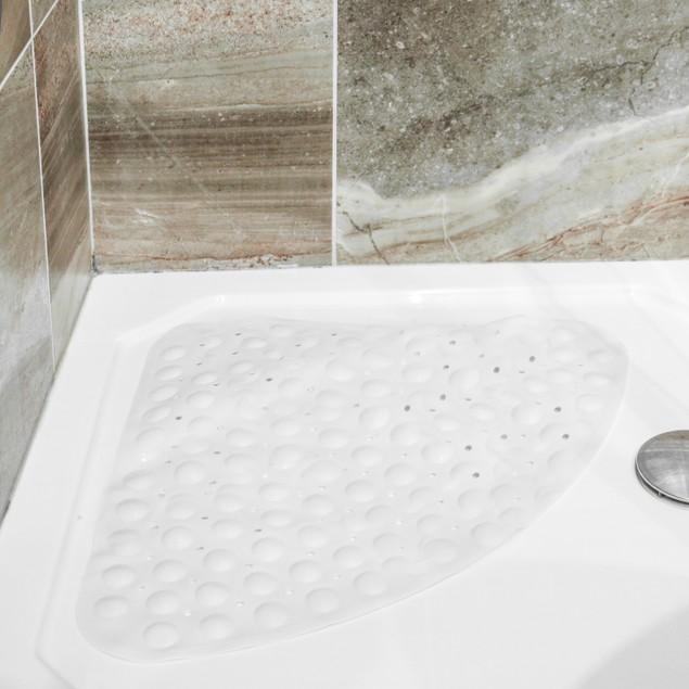 Corner Shower Mat | Pukkr White