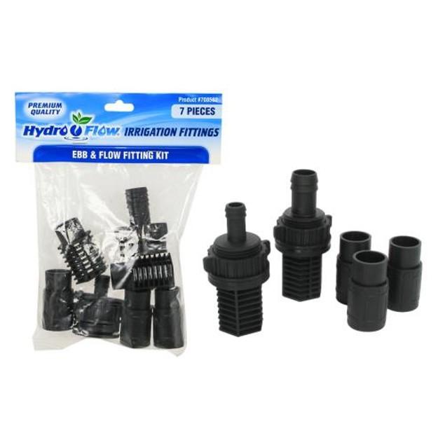 Hydro Flow Ebb & Flow Fitting Kit (1/Bag)