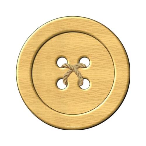 Smart Blonde Wooden Button Novelty Metal Circular Sign C-567