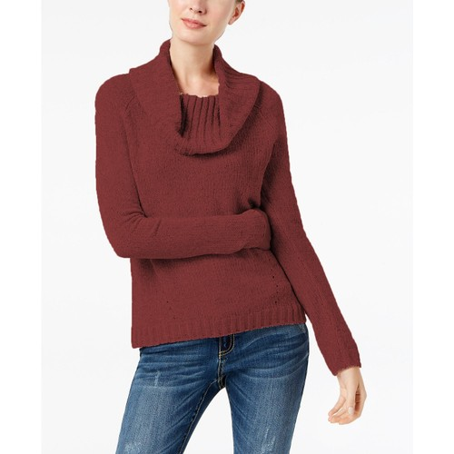 INC International Concepts Wo Cowl-Neck Chenille Sweater Port Small