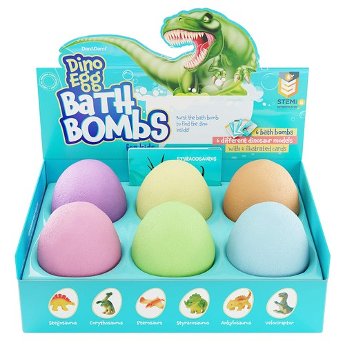 Dino Bath Bomb for Kids with Surprise Dinosaur Inside