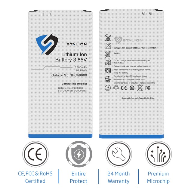Stalion Strength Li-Ion Battery Replacement for Galaxy S3 S4 S5
