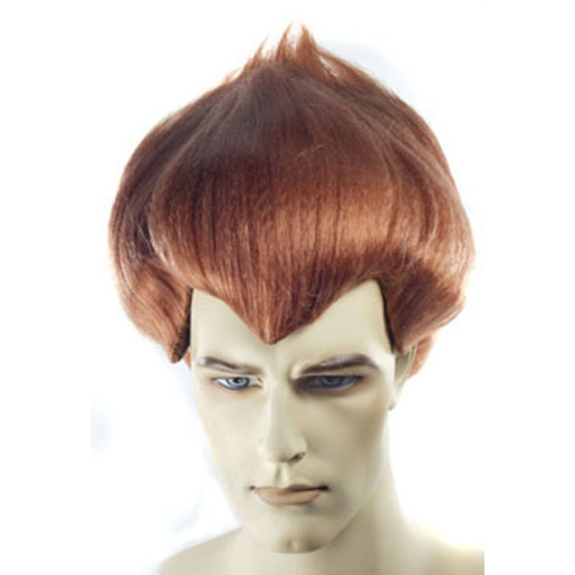 Jimmy Neutron Wig Boy Genius James Issac Mens Adult Costume Auburn Hair