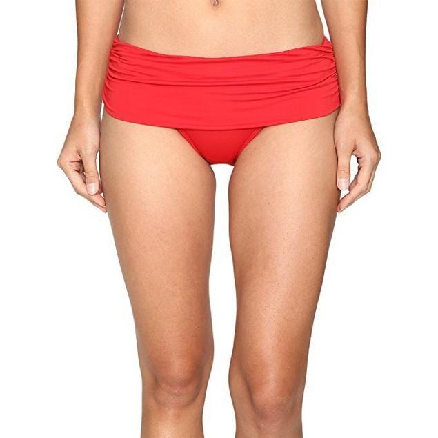 Lauren by Ralph Lauren Women's Beach Club Solids Wide Shirred Banded S