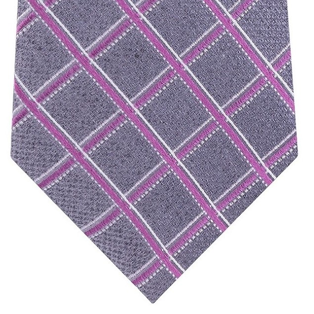 Michael Kors Men's Asymmetric Grid Tie Pink Size Regular
