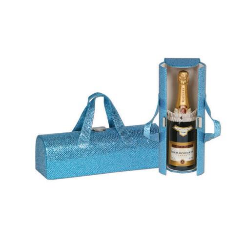Picnic Plus Carlotta Clutch Wine Bottle Clutch GLITTER TURQUOISE