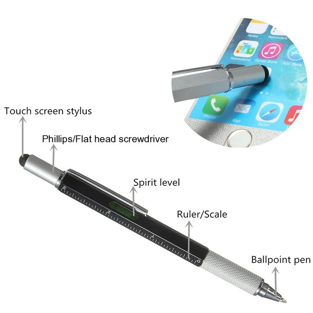 6-in-1 Construction Multi Tool Pen | 2 Pack