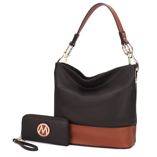 MKF Collection Magnolia Hobo Bag with Wallet by Mia K