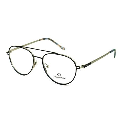 Charles Delon Women's Eyeglasses ML6077 C2 Satin Blue 55 16 140 Stainless Steel