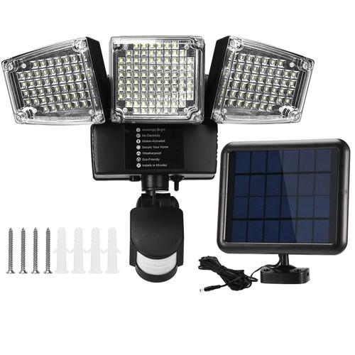 Solar Lights Outdoor 188 LEDs 1600lm Solar Security Lights