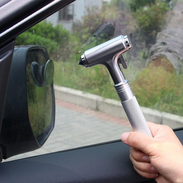 All-metal Car Safety Hammer Practical Fire Emergency Escape Life-saving Hammer Window Breaker