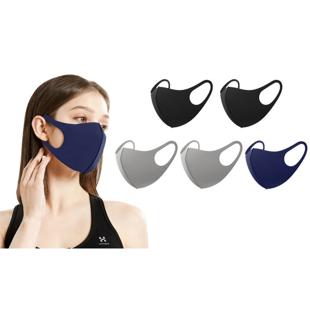 5-Pack Neoprene Fabric Non-Medical Adult Face Masks