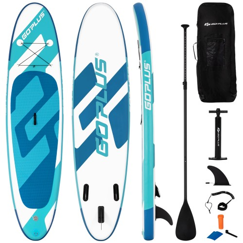 Goplus 11ft Inflatable Stand Up Paddle Board 6'' Thick W/ Aluminum Paddle L
